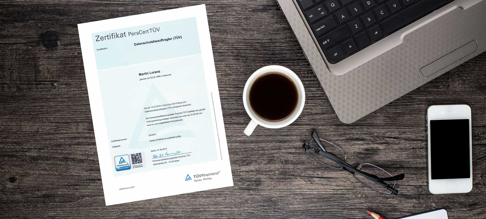 Triades Datenschutz Datensicherheit Zertifikat TÜV Martin Lorenz